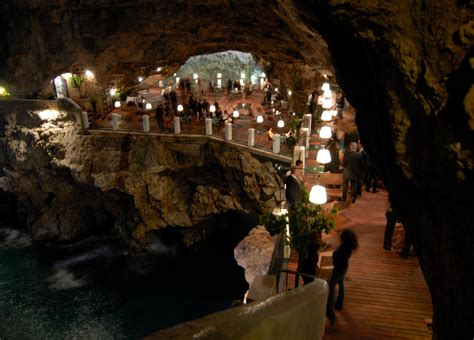 cave restaurant side of a cliff italy 24 life changing restaurants you should add to your bucket