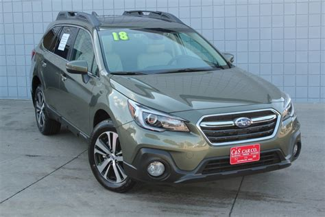 green subaru outback 2018 2018 subaru outback 2 5i limited w eyesight stock