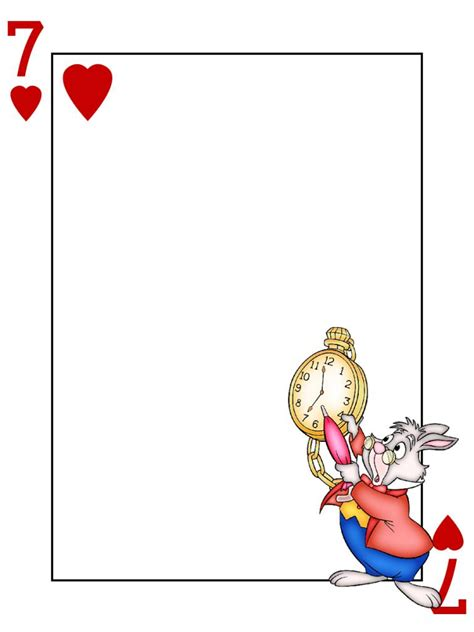 free printable large deck of cards journal card caterpillar alice in wonderland playing