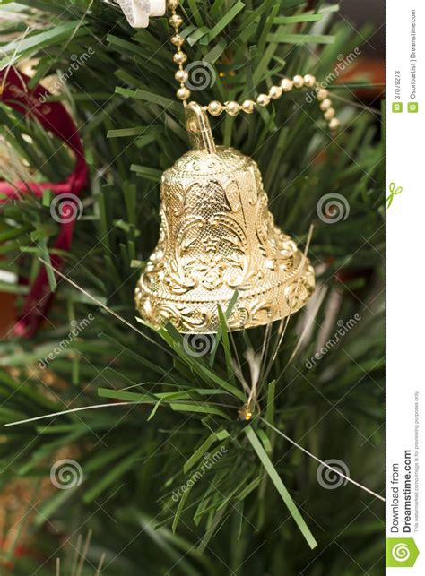 Tree Decorations Bells by Decoration With One Bells Stock Photos Image