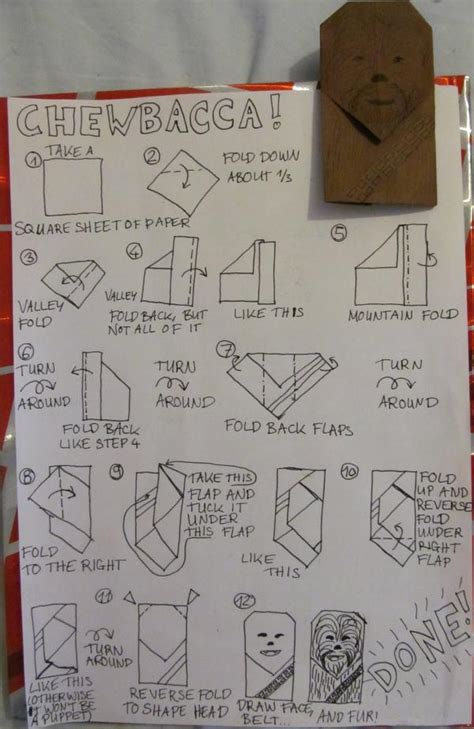 How To Make An Origami Chewbacca - chewbacca instrux origami yoda
