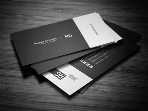 black  white business cards graphics design