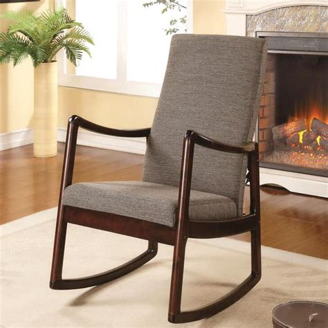 Living Room Rocking Chairs - amelia contemporary modern upholstered rocking chair