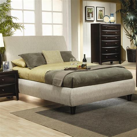 Padded King Bed Frame Eastern King Contemporary Upholstered Bed Frame