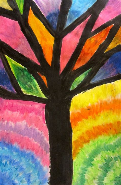 abstract art basic art art is basic art teacher blog abstract oil pastel trees 4th 5th grade