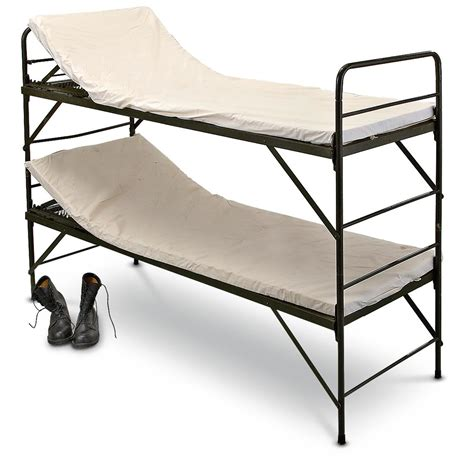 army bunk beds 4 new german military hospital bunk beds 157423 cots at