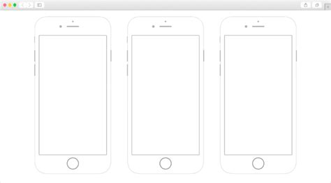 The Biggest Collection Of The Free Ui Ux Printable Wireframes Iphone Wireframe Template
