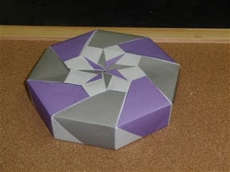 How To Make A Paper Octagon - origami maniacs origami octagon flowery box by tomoko fuse