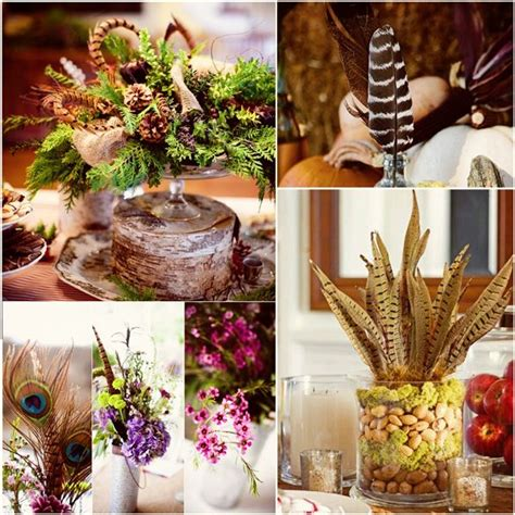 fall centerpieces with feathers 17 best images about holiday decor on pinterest