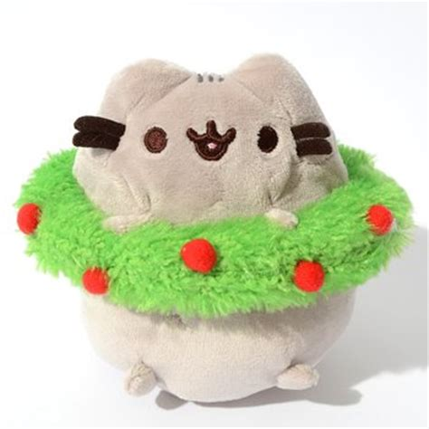 Gund Pusheen Christmast Wreath pusheen wreath plush