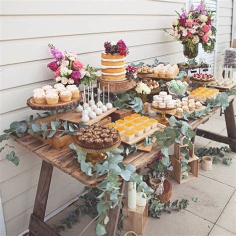 Secret Themed Bridal Shower by A Rustic Dessert Table For A Secret Garden Themed Bridal