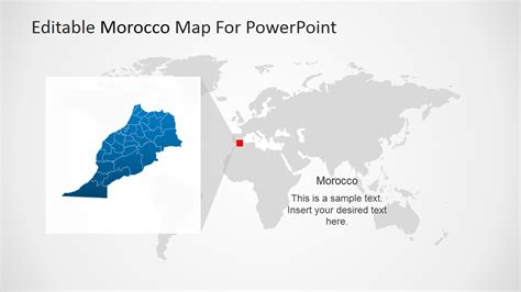 editable morocco powerpoint map slidemodel