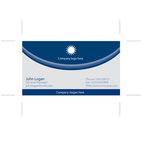 illustrator business card template blue business card illustrator template at