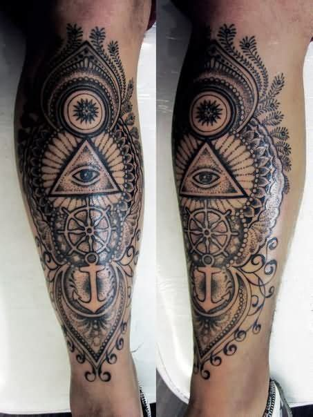 awesome grey ink eye triangle tattoo on chest in 2017 real photo awesome grey ink geometric dotwork triangle eye tattoo