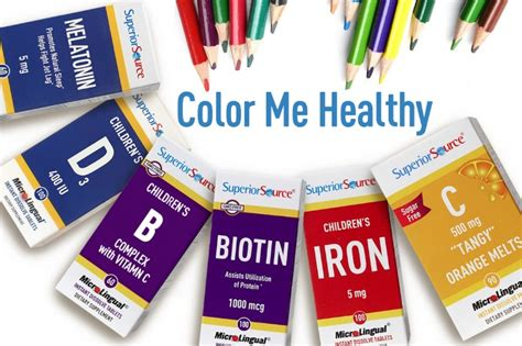 color me healthy for back to school with superior source