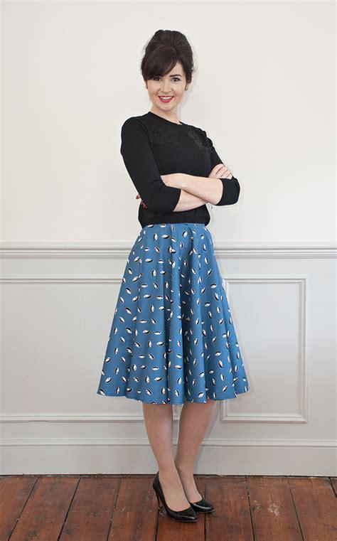 pattern house kent skirt sew over it full circle skirt sewing pattern sew over