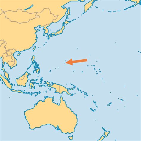 where is guam on the world map guam world map