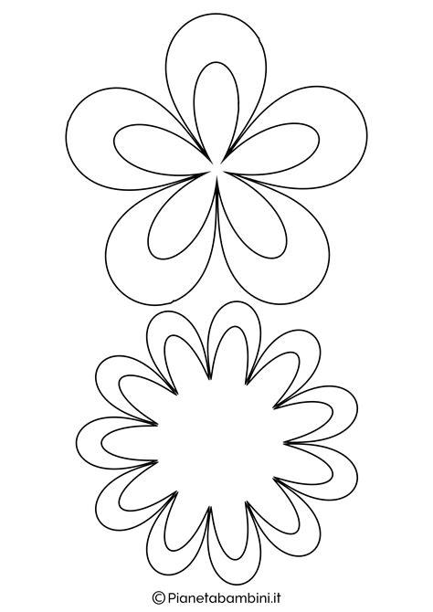fiori da ritagliare e colorare 81 sagome di fiori da colorare e ritagliare per bambini