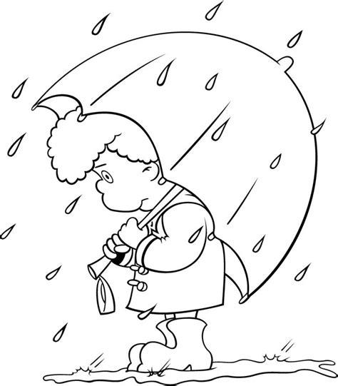 imagenes de otoño y lluvia dibujos de lluvia para colorear
