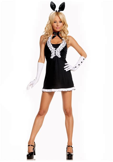 bunny costume black tie bunny costume