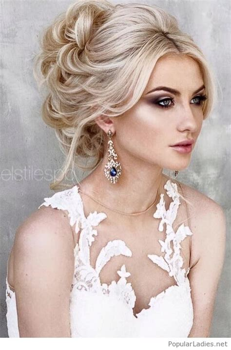 amazing wedding hairstyle love the earrings