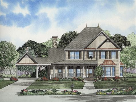 Covered Front Porch Plans forest splendor luxury home plan 055d 0653 house plans