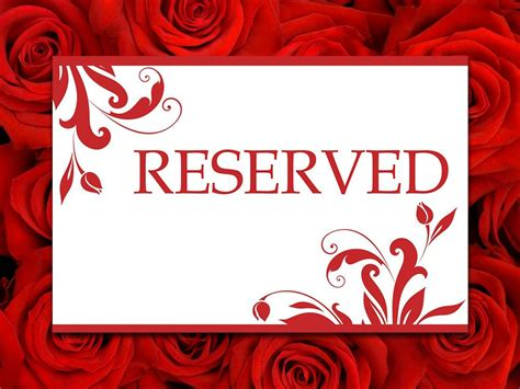 reserved seating card template printable wedding reserved card template reserved seating