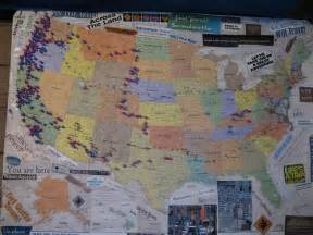 my united states push pins travel map flickr photo