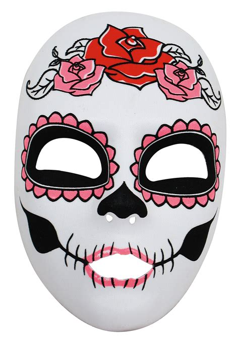 day of the dead mask template pin mask cut out on