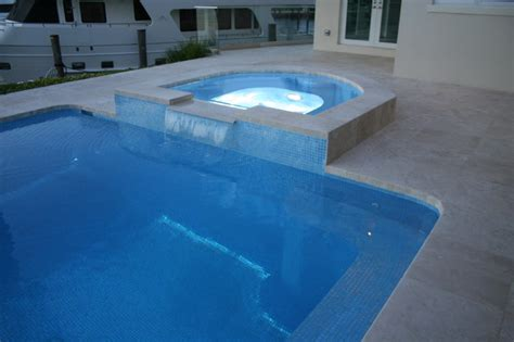 glass tile pool spa modern miami by foreverpools