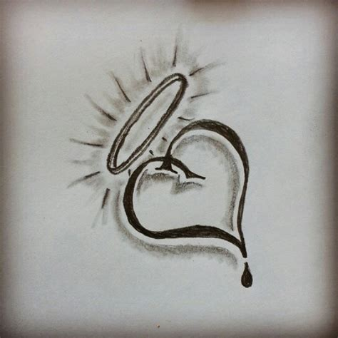 Tattoo Easy Sketch | simple heart tattoo sketch by ranz pinterest