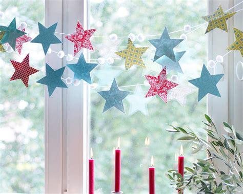 sternenhimmel deko weihnachtsdeko stimmungsvolle dekoideen girlande aus