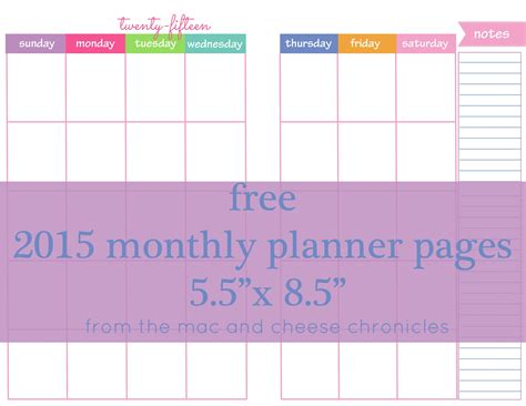 free printable month planner 2015 free 2015 monthly planner pages freebies printables