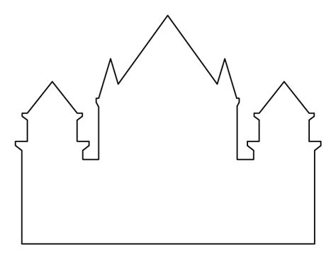 castle drawing template castle pattern use the printable outline for crafts