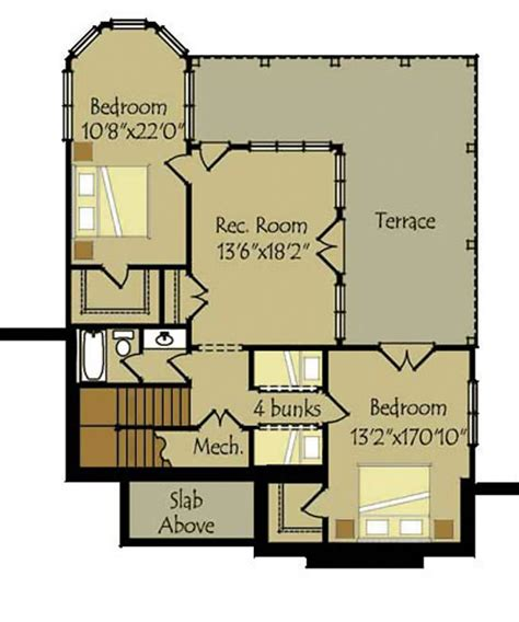 2 bedroom house plans with basement small cottage plan with walkout basement cottage floor plan