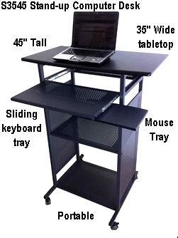 desk 35 inches wide stand up computer desks