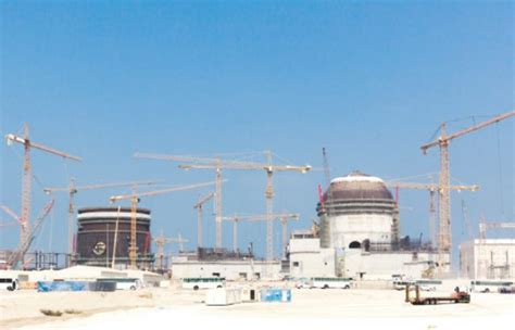 emirates nuclear energy corporation barakah nuclear energy plant building in full swing eye