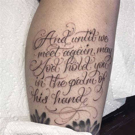script tattoo with lettering and font