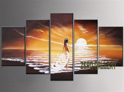 sensual bedroom wall art 2017 special offer hand painted seascape landscapes