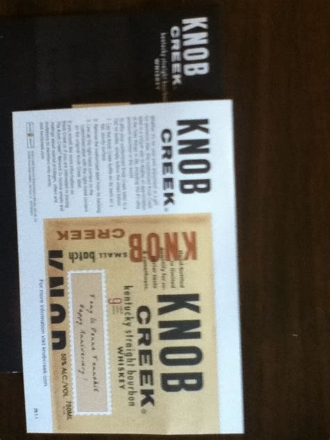Knob Creek Distillery Tour by Knob Creek Kentucky Bourbon Whiskey Bottle Label And Lakeside Collection 2012
