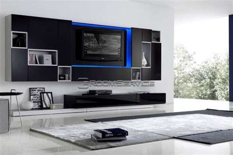 1 Unit Home Theater led home theatre systems 115 modern wall unit by milmueble