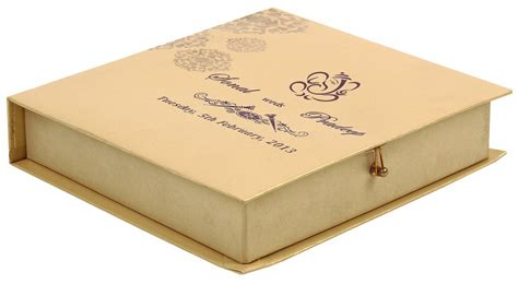 Wedding Box by Wedding Card Box In Indigo Golden Colour