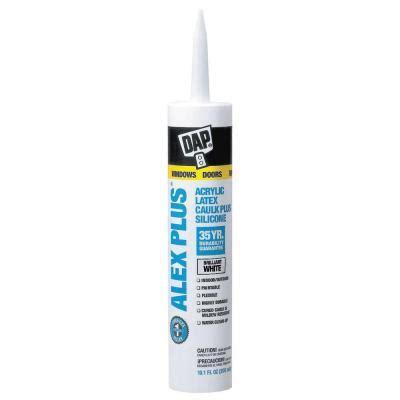 best silicone caulk for bathroom dap alex plus 10 1 oz white acrylic latex caulk plus