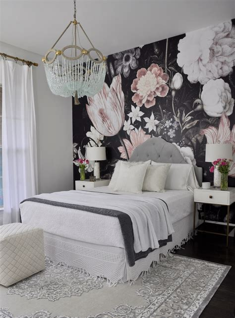 Flower Wallpaper Designs For Bedrooms | one room challenge the reveal floral wallpapers
