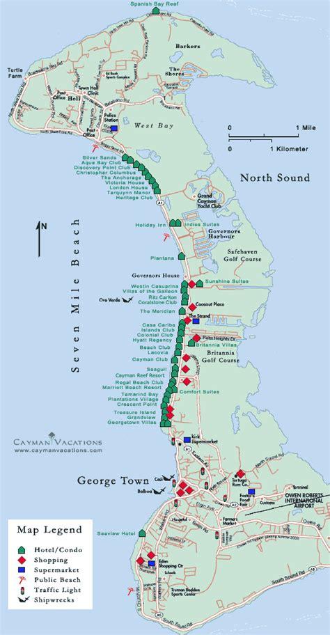 printable map grand cayman island cayman islands tourist map cayman island mappery