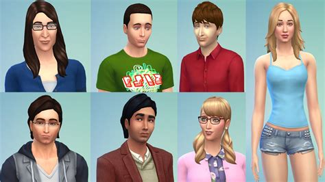 actor sims 4 cast of big bang theory best celebrity sims of the sims