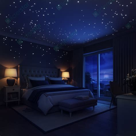 starry night bedroom 30 off glow in the dark stars wall stickers 252 dots