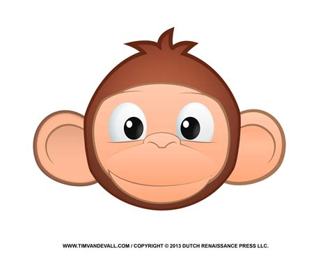 clipart monkeys printable monkey clipart coloring pages crafts