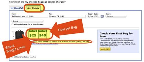 united checked bag cost the easy way to find out how much checked bags will cost