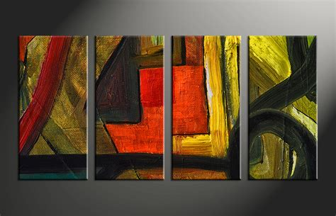painting decor 4 piece canvas abstract colorful oil painting decor